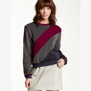 Endless Rose Diagonal stripe long sleeve sweater